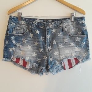 Mossimo | American flag denim shorts high rise